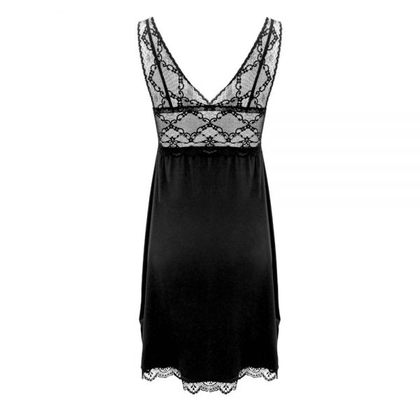 beautiful nightdress in modal and lace back view