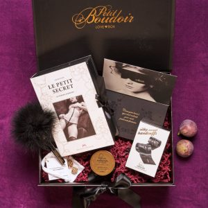 Sexy gift box for couples filled with hot accessories