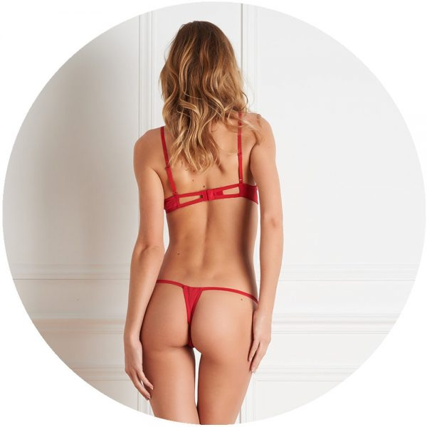 Red Ouvert-lingerie-Set by Maison Close