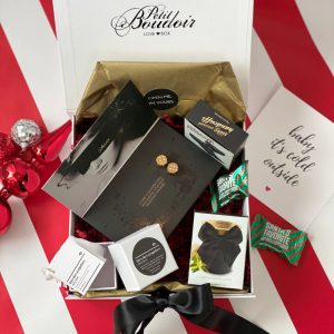 Christmas gift box with kinky accessories and gifts